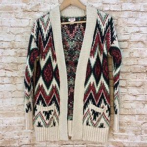 Mossimo Heavy Knit Chevron Sweater Medium